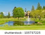 golf place with gorgeous green  ... | Shutterstock . vector #105737225