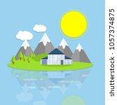 cartoon flat illustration  ... | Shutterstock .eps vector #1057374875