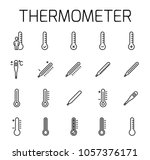 thermometer related vector icon ... | Shutterstock .eps vector #1057376171