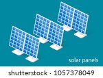 isometric 3d illustration solar ... | Shutterstock . vector #1057378049