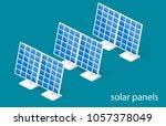 isometric 3d illustration solar ... | Shutterstock . vector #1057378049