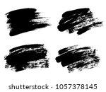 vector black paint  ink brush... | Shutterstock .eps vector #1057378145