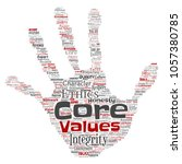 conceptual core values... | Shutterstock . vector #1057380785