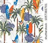 summer vacation seamless hand... | Shutterstock .eps vector #1057383701