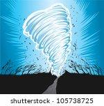 tornado | Shutterstock .eps vector #105738725
