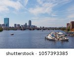 view of the boston and the... | Shutterstock . vector #1057393385