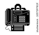 fax icon   print symbol   Shutterstock .eps vector #1057397819