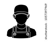 construction worker icon | Shutterstock .eps vector #1057397969