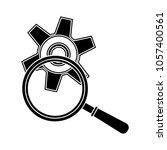 gear magnifier icon | Shutterstock .eps vector #1057400561