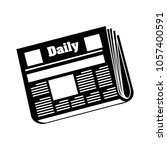 daily newspaper icon | Shutterstock .eps vector #1057400591