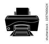 printer vector icon | Shutterstock .eps vector #1057400624