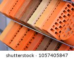 hardware store with bricks.... | Shutterstock . vector #1057405847