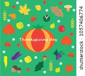 thanksgiving day cards | Shutterstock .eps vector #1057406774