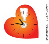 time limit on love  concept. ... | Shutterstock .eps vector #1057408994