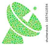 radio telescope collage of... | Shutterstock . vector #1057413554