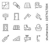 thin line icon set   cutter... | Shutterstock .eps vector #1057417004
