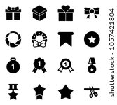 solid vector icon set   gift... | Shutterstock .eps vector #1057421804