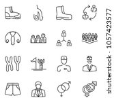 thin line icon set  ... | Shutterstock .eps vector #1057423577