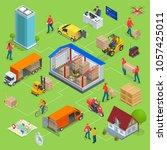isometric logistics and...   Shutterstock . vector #1057425011