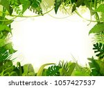 jungle tropical landscape... | Shutterstock .eps vector #1057427537