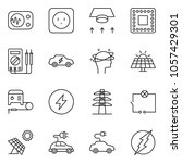 thin line icon set   wiring...   Shutterstock .eps vector #1057429301