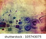 abstract music grunge background with music speaker design.