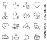 thin line icon set   heart... | Shutterstock .eps vector #1057433387
