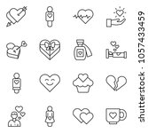 thin line icon set   heart... | Shutterstock .eps vector #1057433459