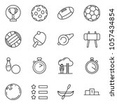 thin line icon set   stopwatch... | Shutterstock .eps vector #1057434854