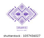 colorful aztec style ornamental ... | Shutterstock .eps vector #1057436027