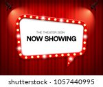theater sign on curtain | Shutterstock .eps vector #1057440995
