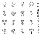 thin line icon set   flower... | Shutterstock .eps vector #1057441211