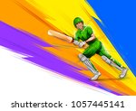 illustration of batsman playing ... | Shutterstock .eps vector #1057445141