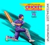 illustration of batsman playing ... | Shutterstock .eps vector #1057445144