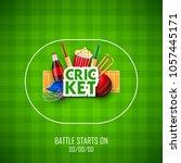 llustration of player bat  ball ... | Shutterstock .eps vector #1057445171