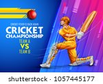 illustration of batsman playing ...