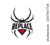 spider emblem logo design... | Shutterstock .eps vector #1057447724