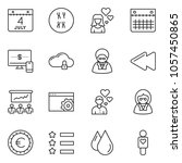 thin line icon set   monitor... | Shutterstock .eps vector #1057450865