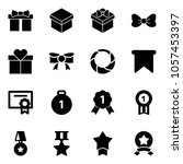 solid vector icon set   gift... | Shutterstock .eps vector #1057453397