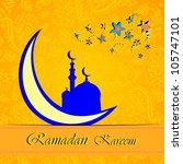 ramadan greetings in arabic... | Shutterstock . vector #105747101