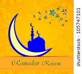 ramadan greetings in arabic... | Shutterstock . vector #105747101