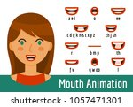 phoneme mouth shapes collection ... | Shutterstock .eps vector #1057471301