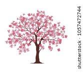 flower tree printable family... | Shutterstock .eps vector #1057472744