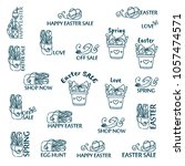 vector set of logo  labels ...   Shutterstock .eps vector #1057474571