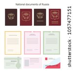 national documents of russian... | Shutterstock .eps vector #1057477151