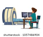 vector cartoon computer... | Shutterstock .eps vector #1057486904