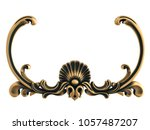bronze ornament on a white... | Shutterstock . vector #1057487207