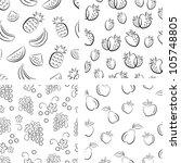 set of hand drawn fruit... | Shutterstock .eps vector #105748805