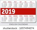 english pocket calendar for... | Shutterstock .eps vector #1057494074