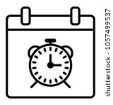 line icon time management ... | Shutterstock .eps vector #1057499537